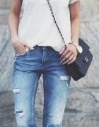 ripped jeans jeansy z dziurami...