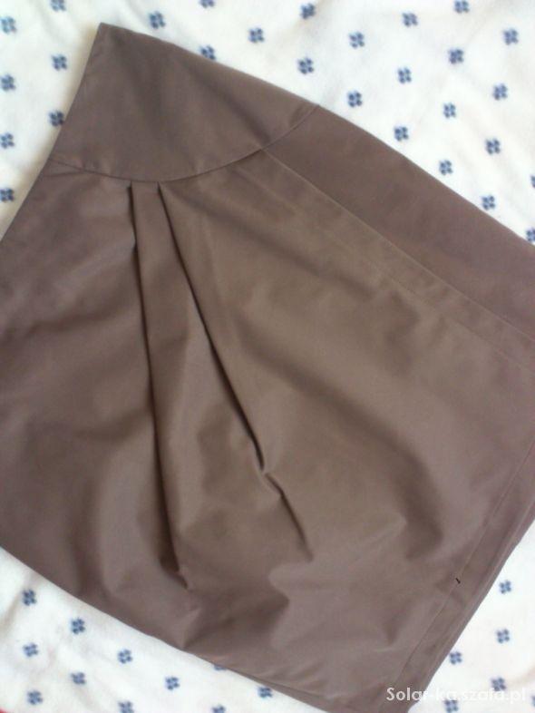 Spódnice Super Spódnica ołowkowa z zakładkami