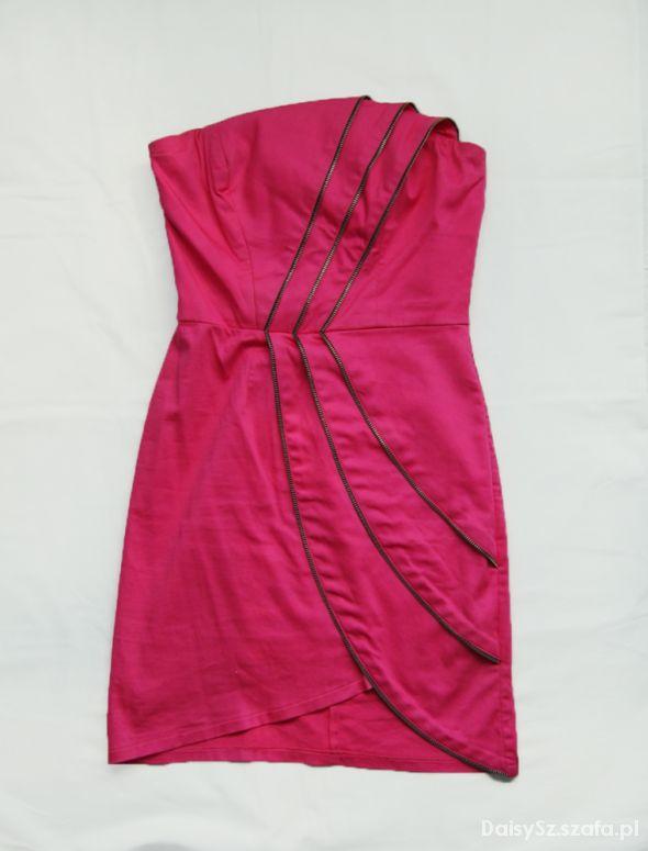 e77abb77af lipsy london różowa sukienka zip zamki 36 S w Suknie i sukienki ...