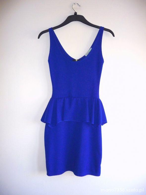 91db31bc00 S M sukienka z baskinką baskinka chabrowa kobalt w Suknie i sukienki ...