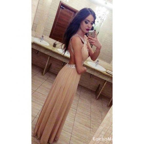 Sukienka maxi plecy