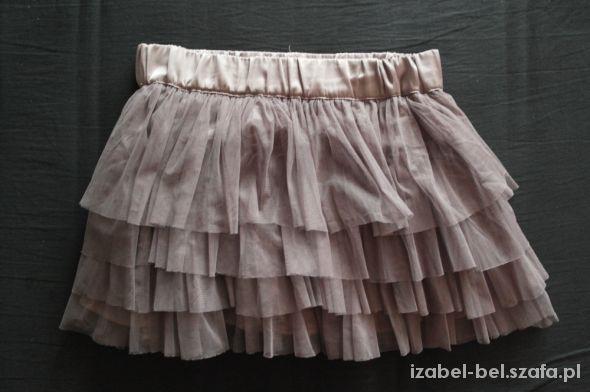 Spódnice szara tiulowa spódnica h&m 38