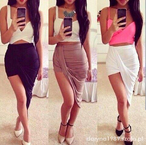 Ubrania spodnica asymetryczna