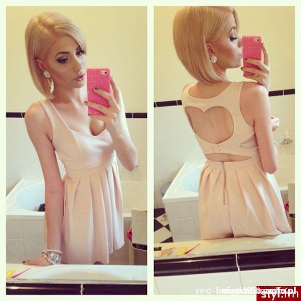 topshop sukienka serce rozkloszowana 34 xs 36 s...