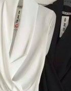 Czarna bluzka lub body