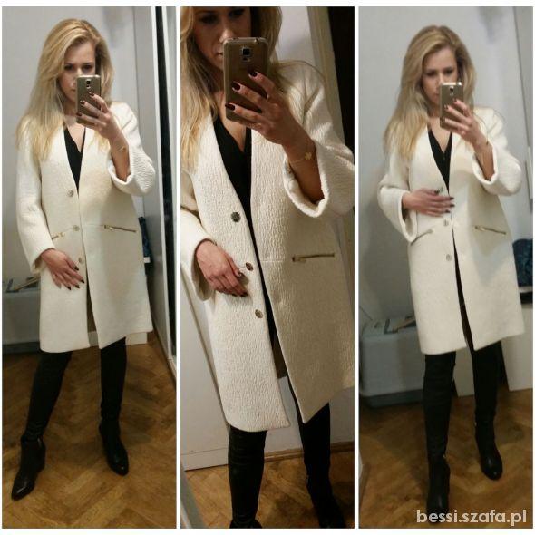 Mój styl Biały płaszcz Zara