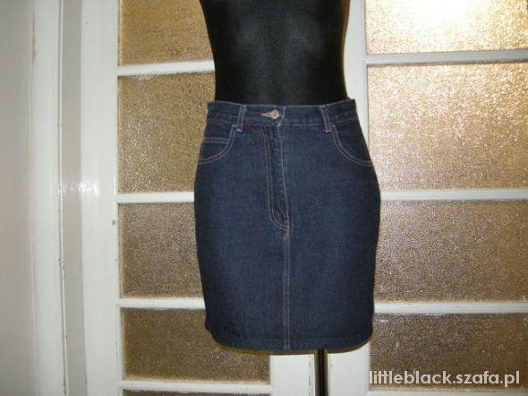Spódnice Wyprzedaż granatowa jeansowa