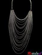 Naszyjnik srebrne długie łańcuchy z Restyle