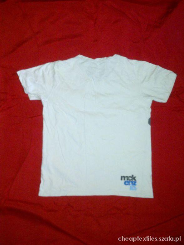 Biały t shirt męski MCKENZIE rozmiar M w Koszulki i t shirty
