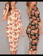 Sukienka ołówkowa FLORAL SEKSOWNA 6559