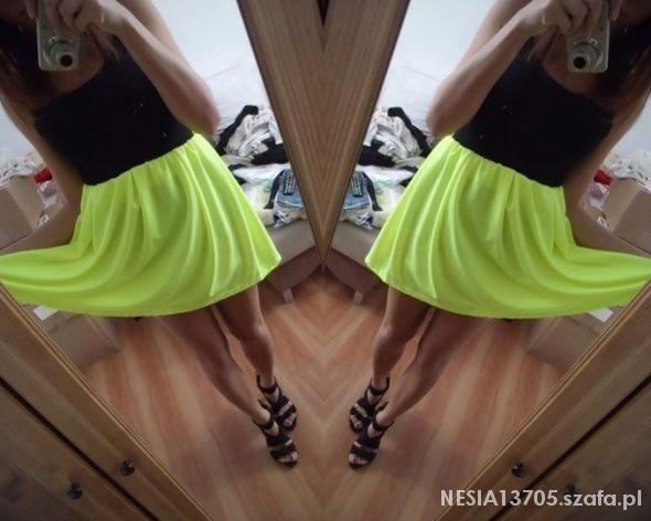 Spódnice neonowa FLUO nowa spódniczka