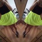 neonowa FLUO nowa spódniczka