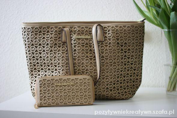 907e4172ffb0a Torebka MICHAEL KORS plus portfel ażurowa stylowa w Torebki na co ...
