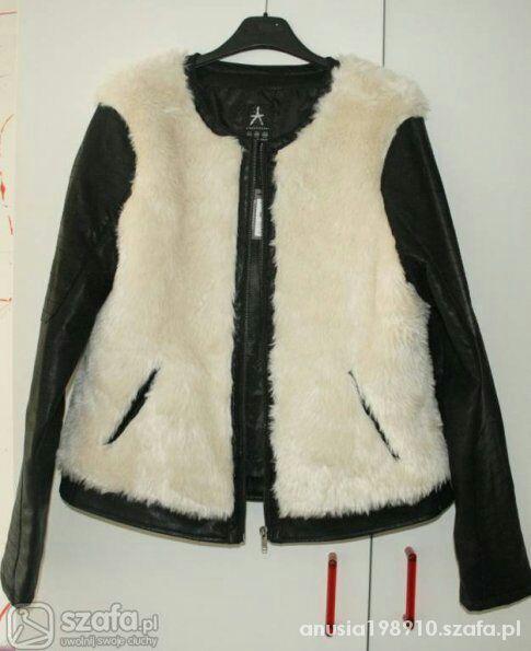 kurtka skórzana z futerkiem miś...