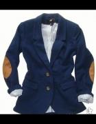 marynarka sweter z łatami dłuższa 40 42