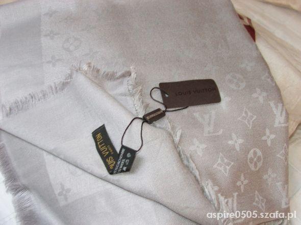 f09b2d389fb6d Szal szara chusta Louis Vuitton nowa 140x140 w Chusty i apaszki ...