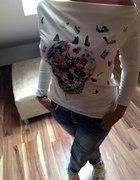 Włoska Stylowa Bluzka butterfly Oversize HIT