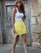 Zara spódnica żółta tulipan 34