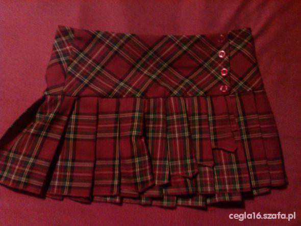 spódnica w szkocką kratę plisowana krótka w Spódnice Szafa.pl