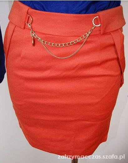 Spódnice Pomarańczowa mini spódniczka DARMOWA DOSTAWA
