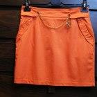 Pomarańczowa mini spódniczka DARMOWA DOSTAWA