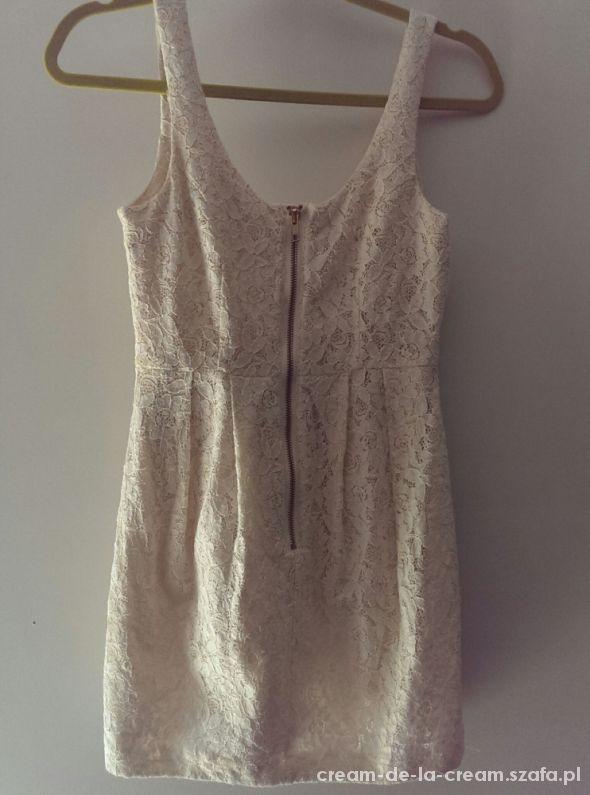 H&M koronkowa sukienka mini rozmiar S