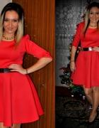 Czerwona Sukienka PIANKA...