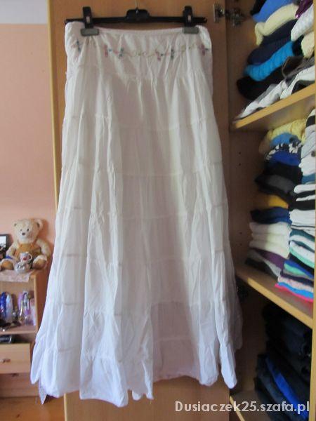 Spódnice Biała spódnica długa