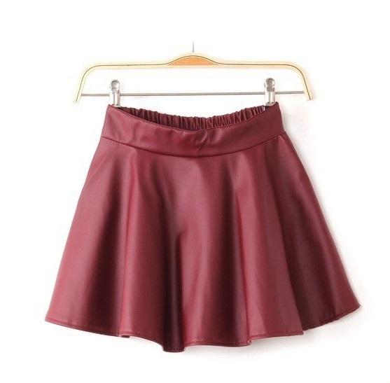 Spódnice Rozkloszowana spódnica skóra