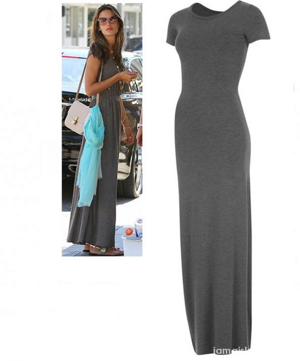433f1db32b GOLDDIGGA szara maxi długa dresowa SUKIENKA L XL w Suknie i sukienki ...