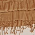 Chusta szal apaszka paszmina beżowa duża