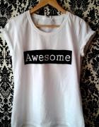 koszulka ręcznie malowana AWESOME...
