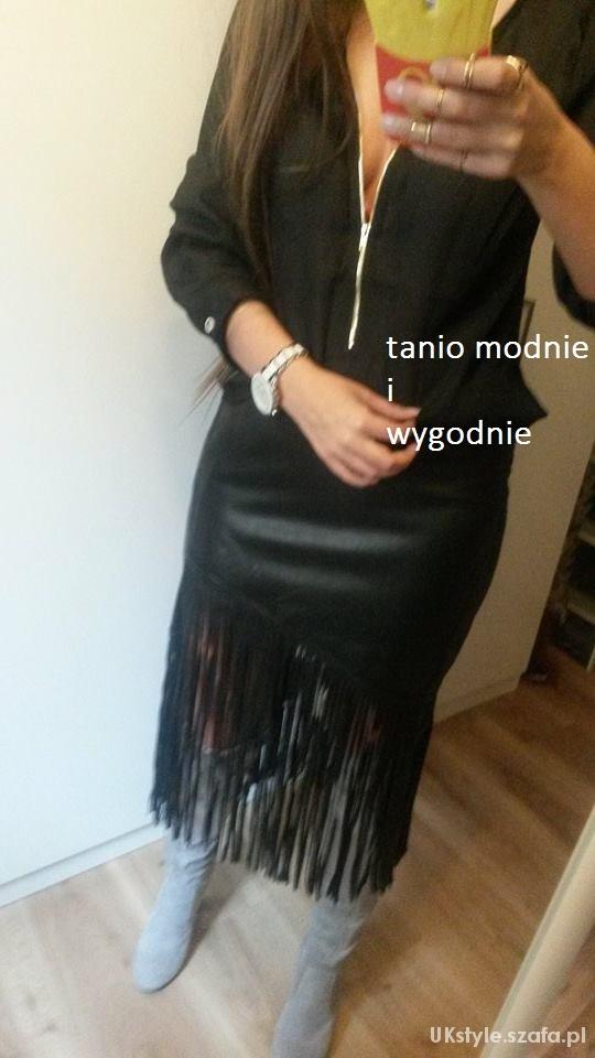 Mój styl fringe skirt