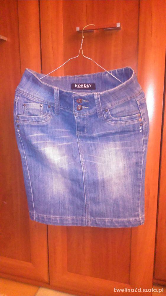 Spódnice dżinsowa ołówkowa spódnica
