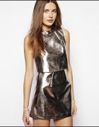 metaliczna sukienka xs