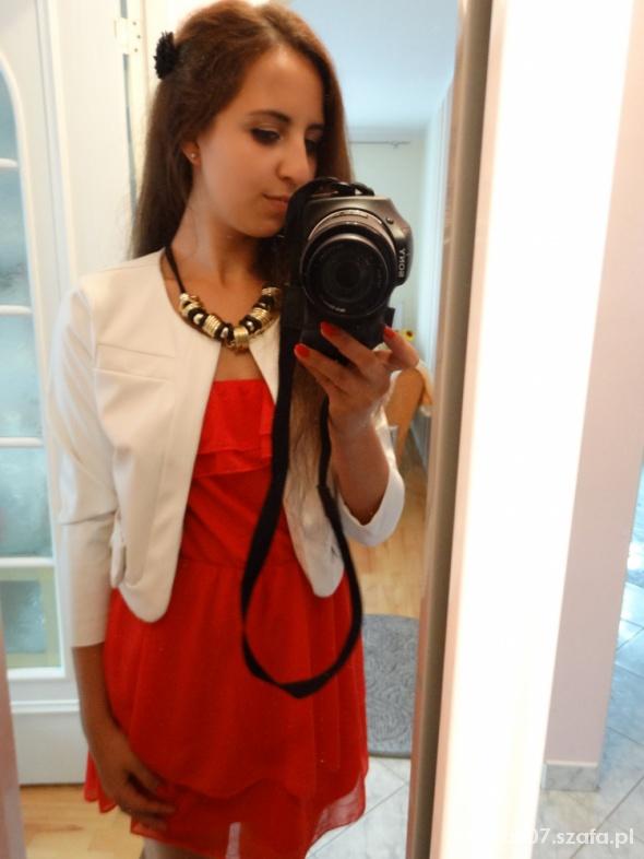 Suknie i sukienki Czerwona sukienka H&M