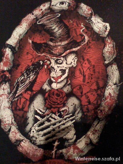 Tuniki Tunika Too Fast Wicked soul czaszka róże kruk