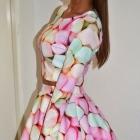 Cukierkowy komplet w pianki cukierki pastelowe