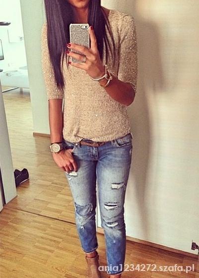 Mój styl złoto i jeans