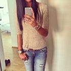 złoto i jeans