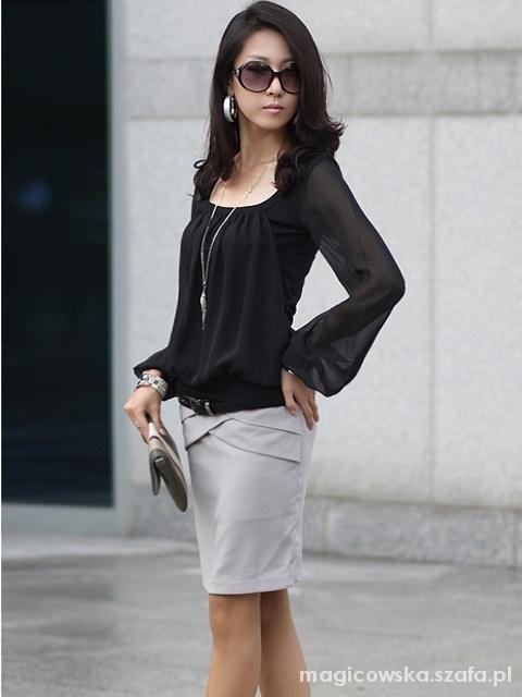 Eleganckie Bluzka czarna