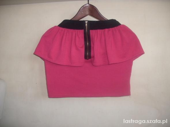 Spódnice baskinka różowa mini