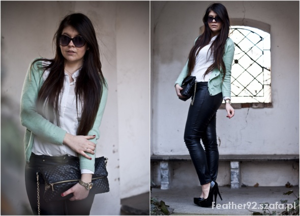 Eleganckie Mint Sweater