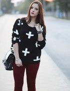 sweter krzyże 34 c&a gruby ciepły