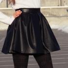 Rozkloszowana spódniczka czarna zip M