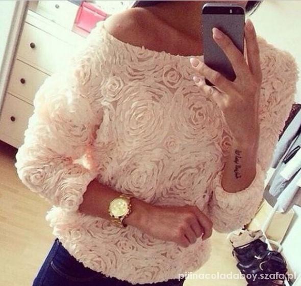 floral bluzka róże