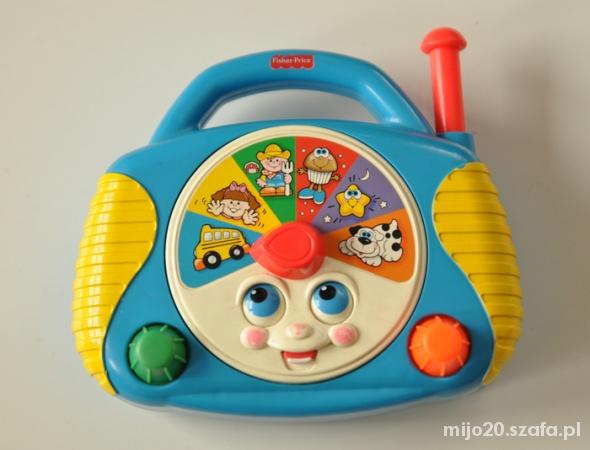 Zabawki Radio Fisher Price grajace radyjko na baterie