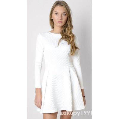 Suknie i sukienki biala sukienka 36 s rozkloszowana