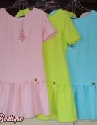 limonkowa zip sukienka w stylu la mania