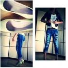 jeansy łaty